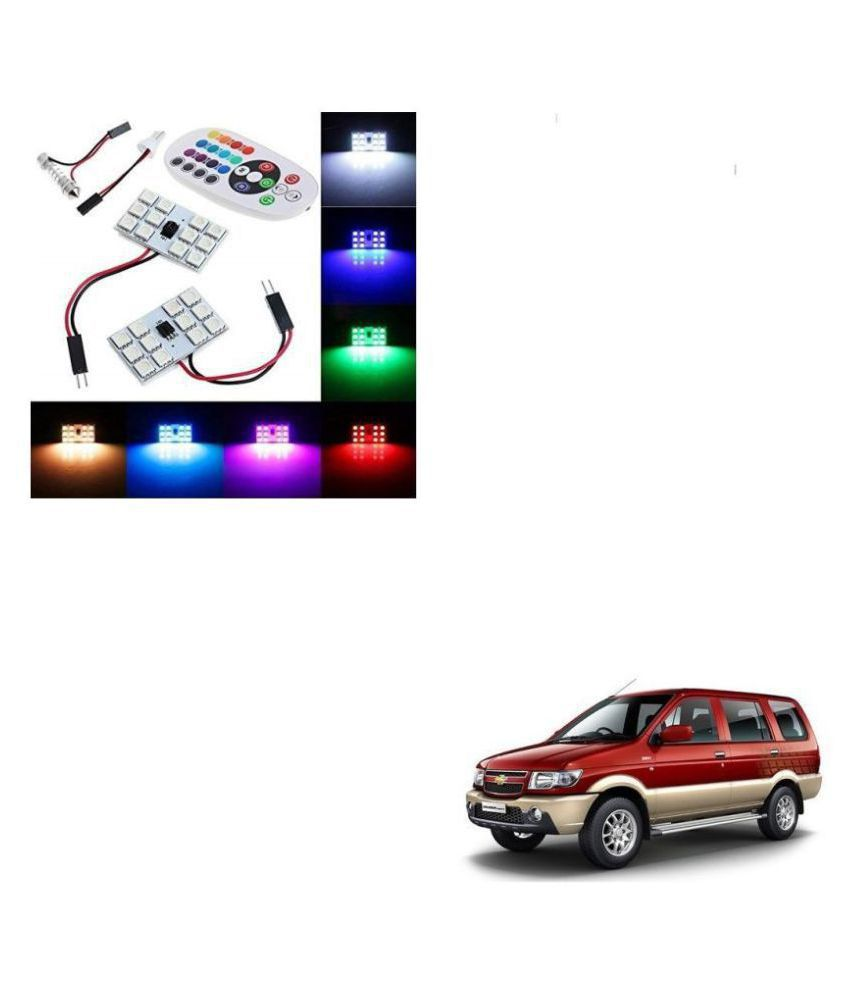 Auto Ad.dict Car 12 LED RGB Roof Light with IR Remote Car Fancy Lights For Chevrolet Tavera