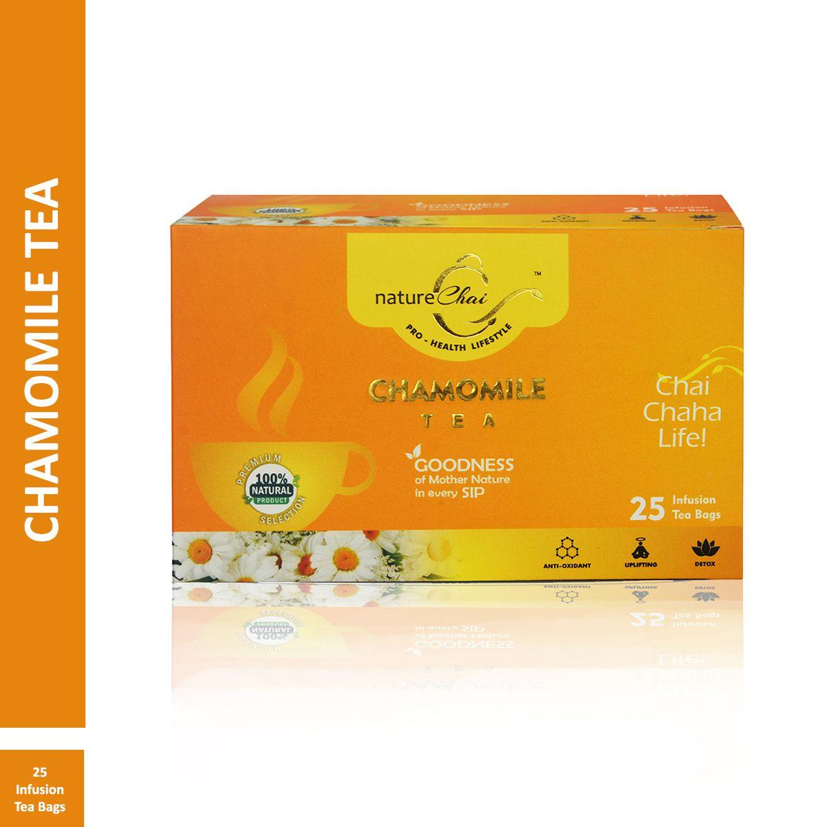 Nature Chai Chamomile Green Tea Bags 25 no.s