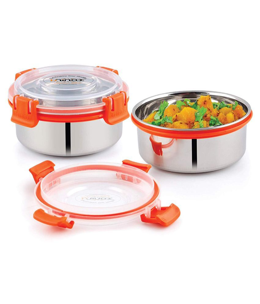 DIVINE ARROW Multicolour Stainless Steel Lunch Box