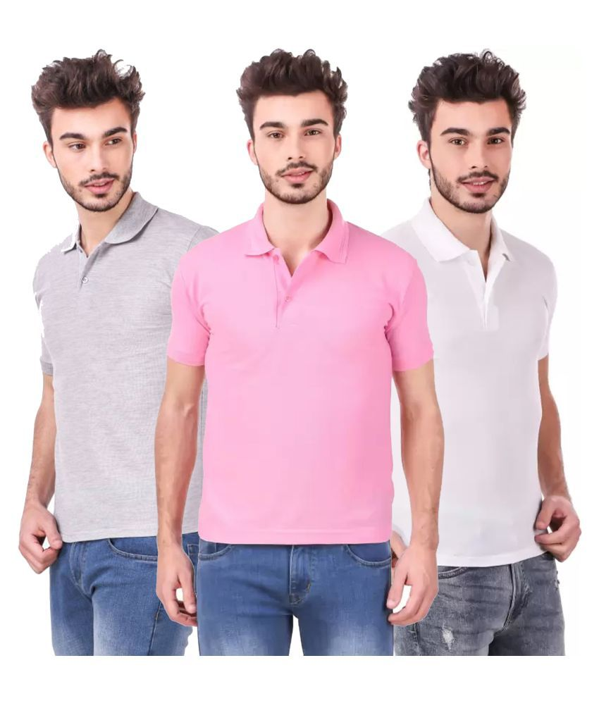 Freely Polyester Cotton White Solids T-Shirt