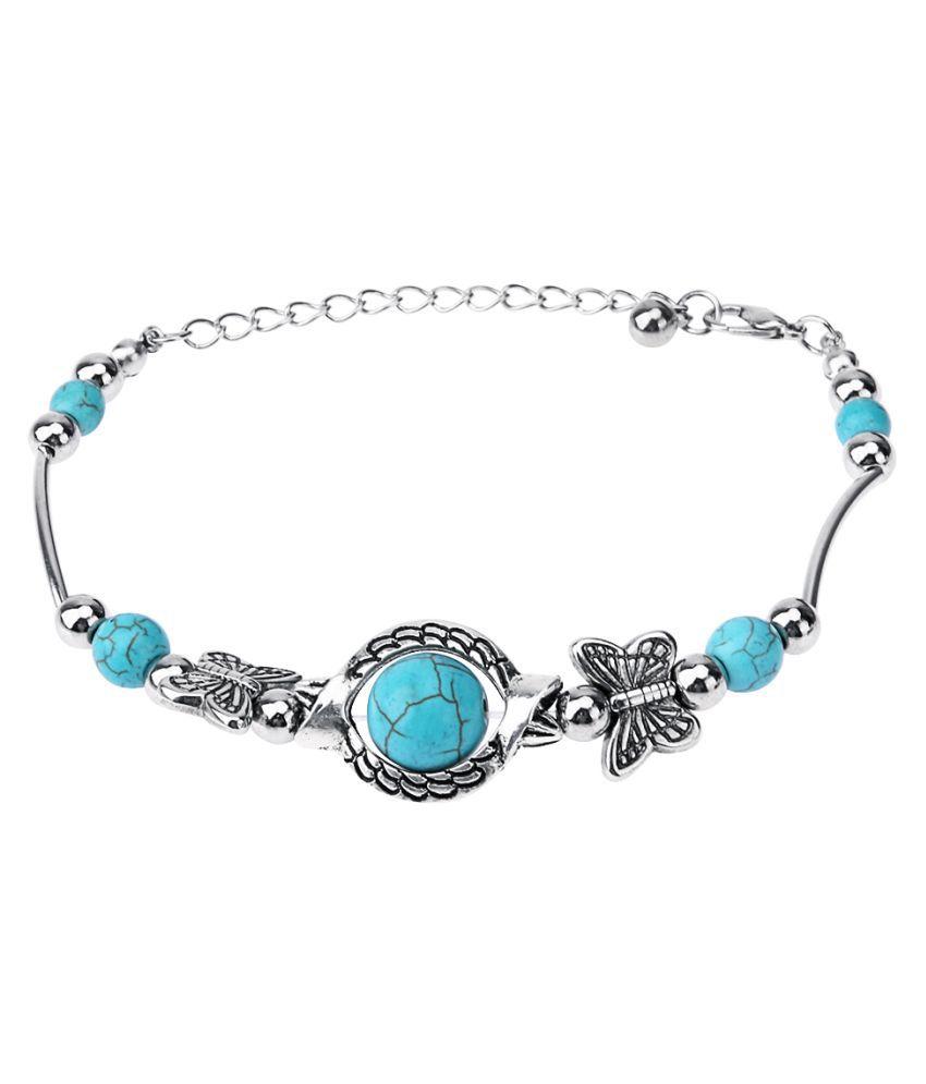 Butterfly Bracelet Turquoise Bracelet Handmade Beaded Bracelet