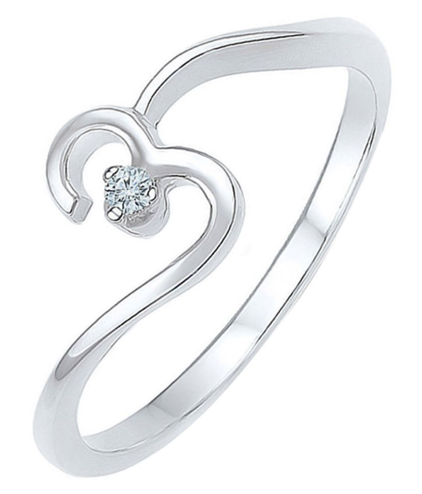 Voylla 92.5 Silver Diamond Ring