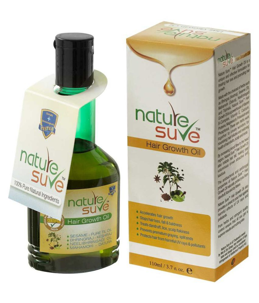 Nature Sure Hair Growth Oil Ayurvedic Hair Growth Oil 110 ml