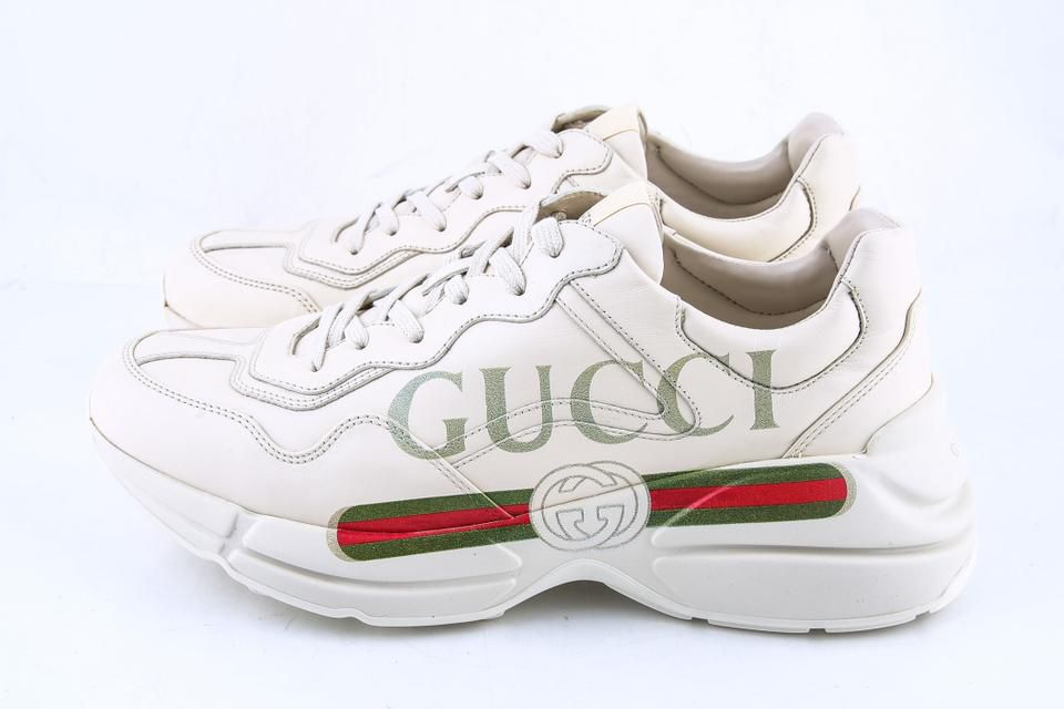 offer discounts good texture discount Gucci Ivory Rhyton Logo White Running Shoes - Buy Gucci Ivory ...