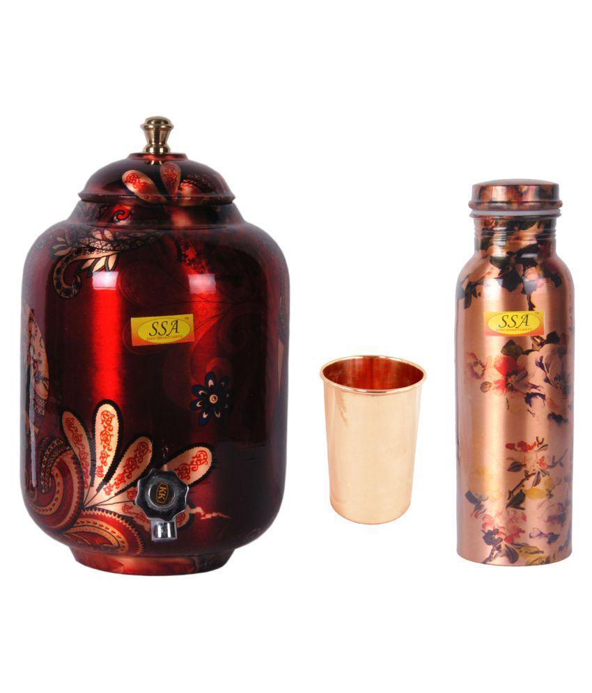 Shiv Shakti Arts Copper Drinkware Set 3 Pcs Lemon set