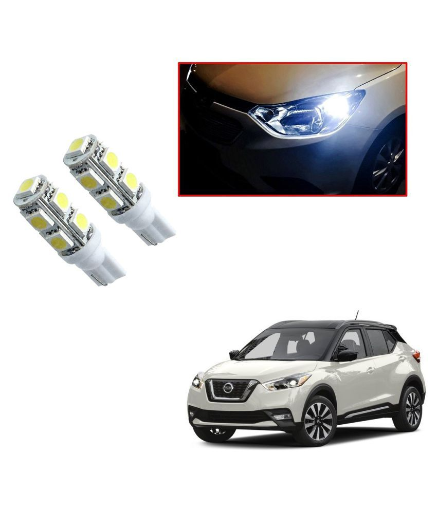 Auto Addict Car T10 9 SMD Headlight LED Bulb for Headlights,Parking Light,Number Plate Light,Indicator Light For Nissan Kicks