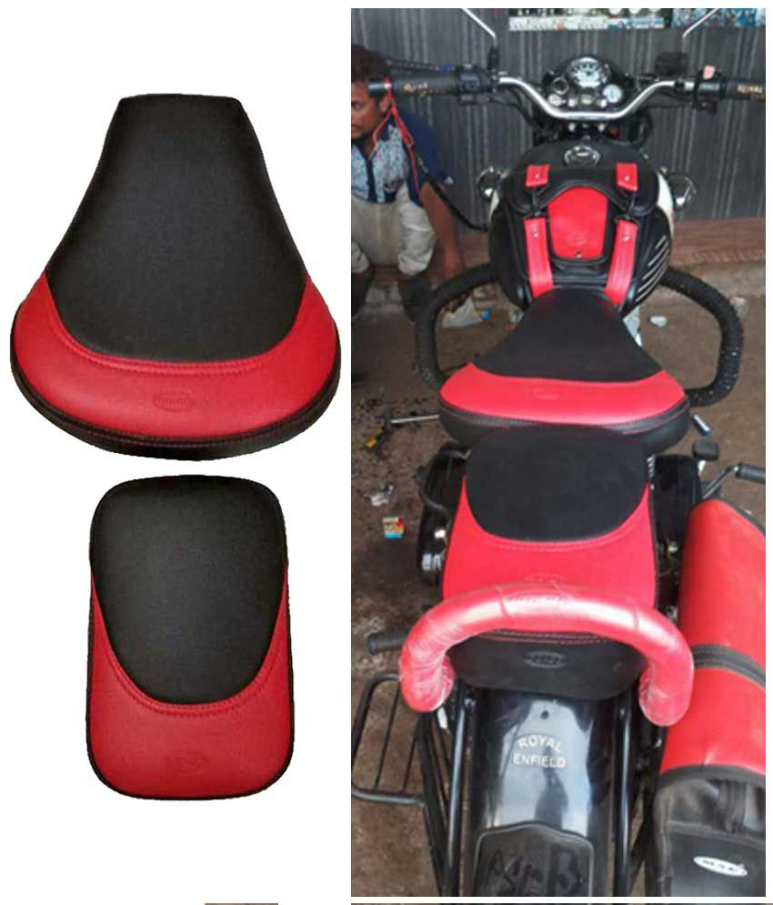 Terrific Royal Enfield Bullet 350 500 Cc Bike Motorcycle Seat Cover With Cotton Back Material Extra Soft Quality 100 Waterproof Material Raxine Material Spiritservingveterans Wood Chair Design Ideas Spiritservingveteransorg