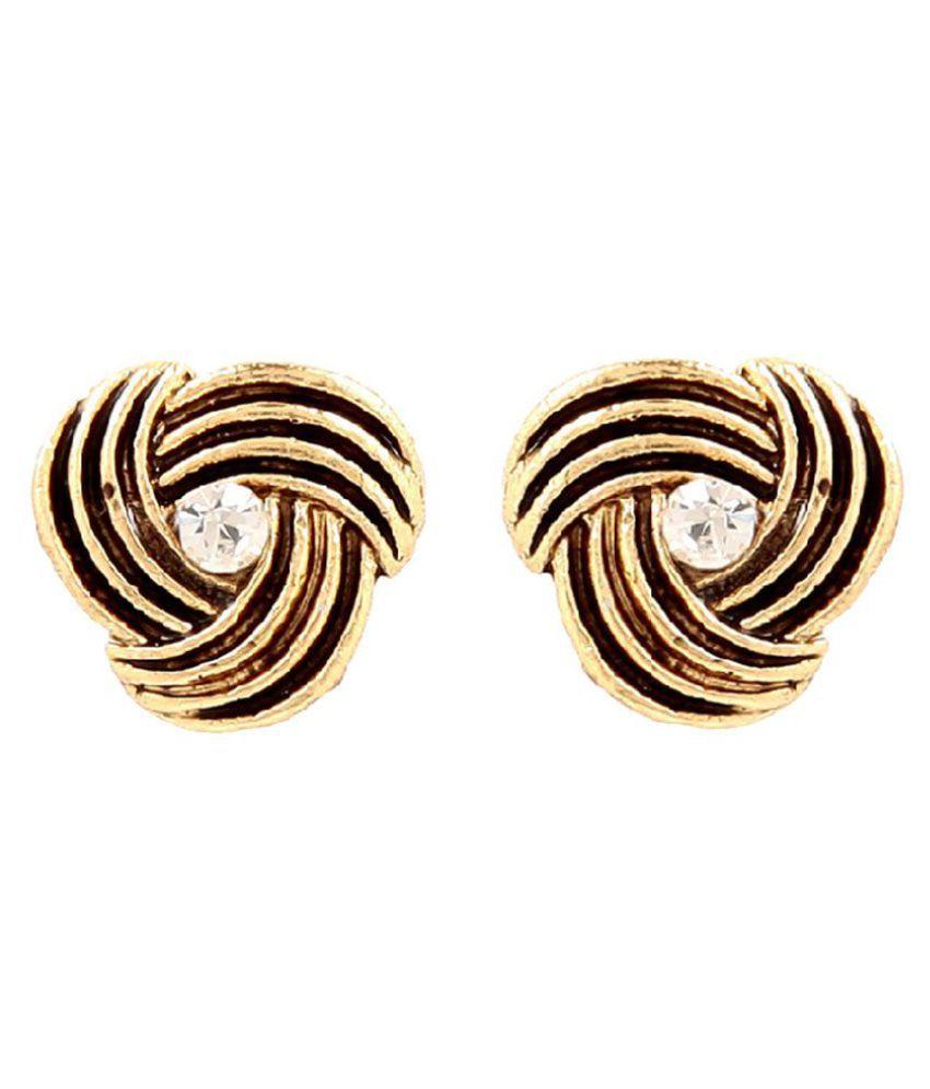GoldNera Golden Alloy Stud Earrings