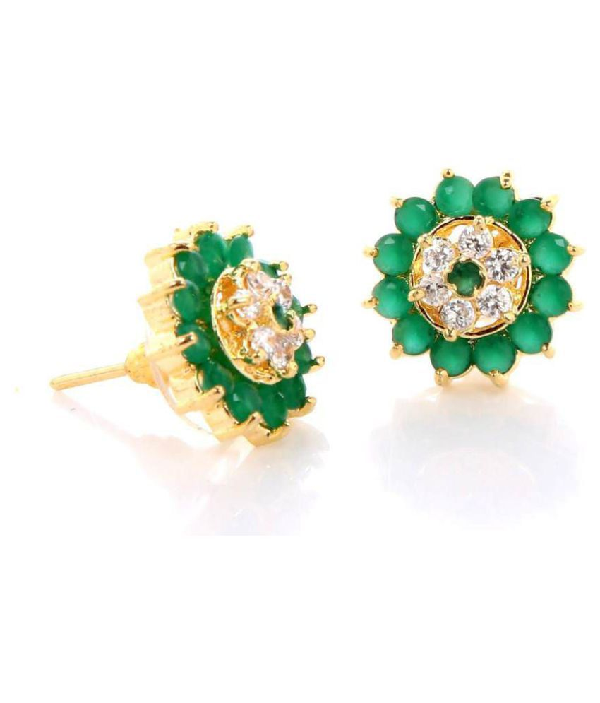 GoldNera Mangalam Brass Stud Earrings