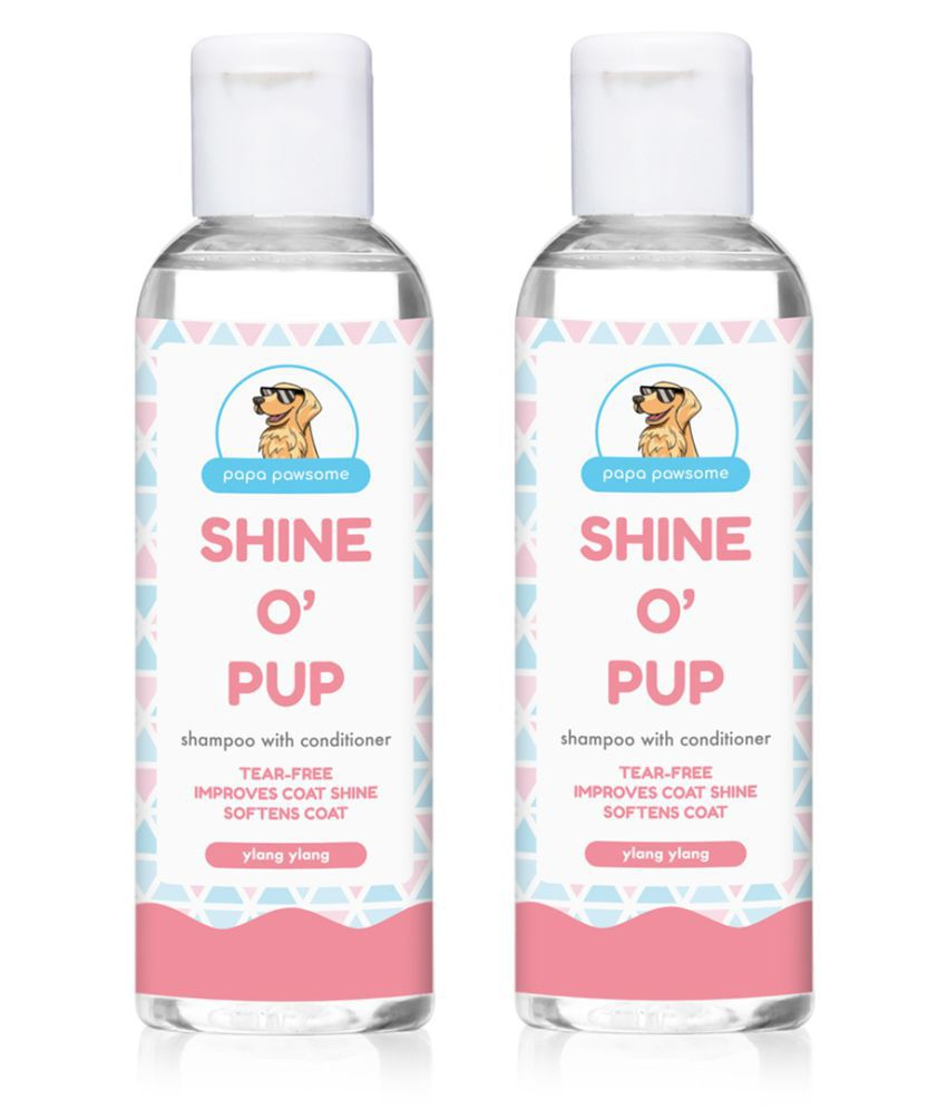 Papa Pawsome Shine O' Pup Shampoo with Conditioner (100 ml Each) - Pack of 2