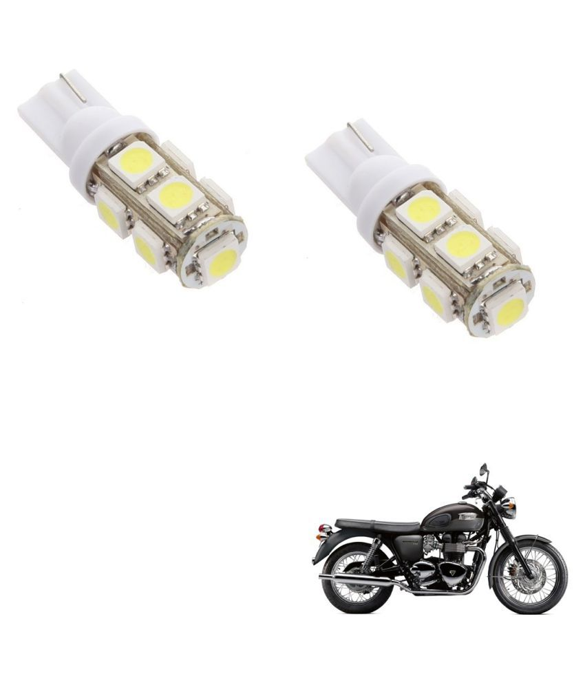 Auto Addict Bike T10 9 SMD Headlight LED Bulb for Headlights,Parking Light,Number Plate Light,Indicator Light For Triumph Bonneville