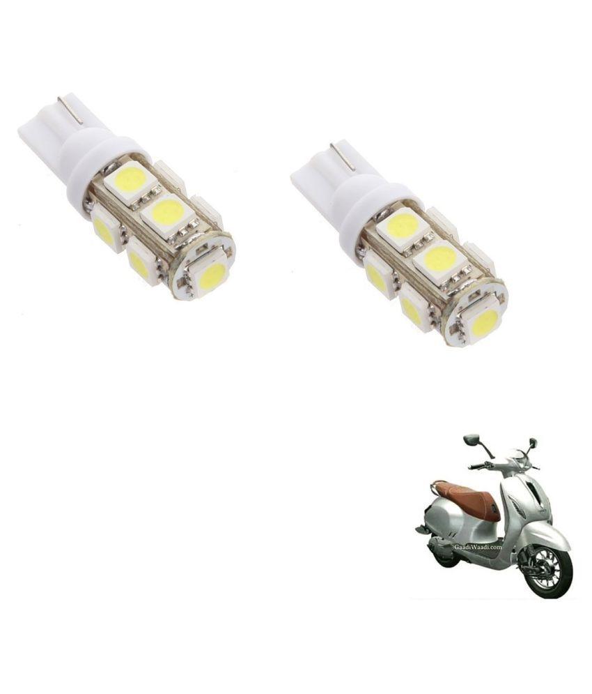 Auto Addict Scooty T10 9 SMD Headlight LED Bulb for Headlights,Parking Light,Number Plate Light,Indicator Light For Bajaj Chetak