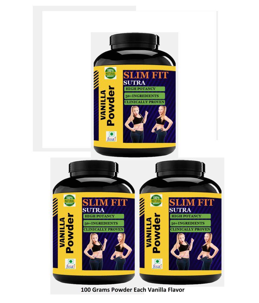 VITARA HEALTHCARE Slim Fit Sutra Vanilla Flavour Powder 330 gm Pack of 3