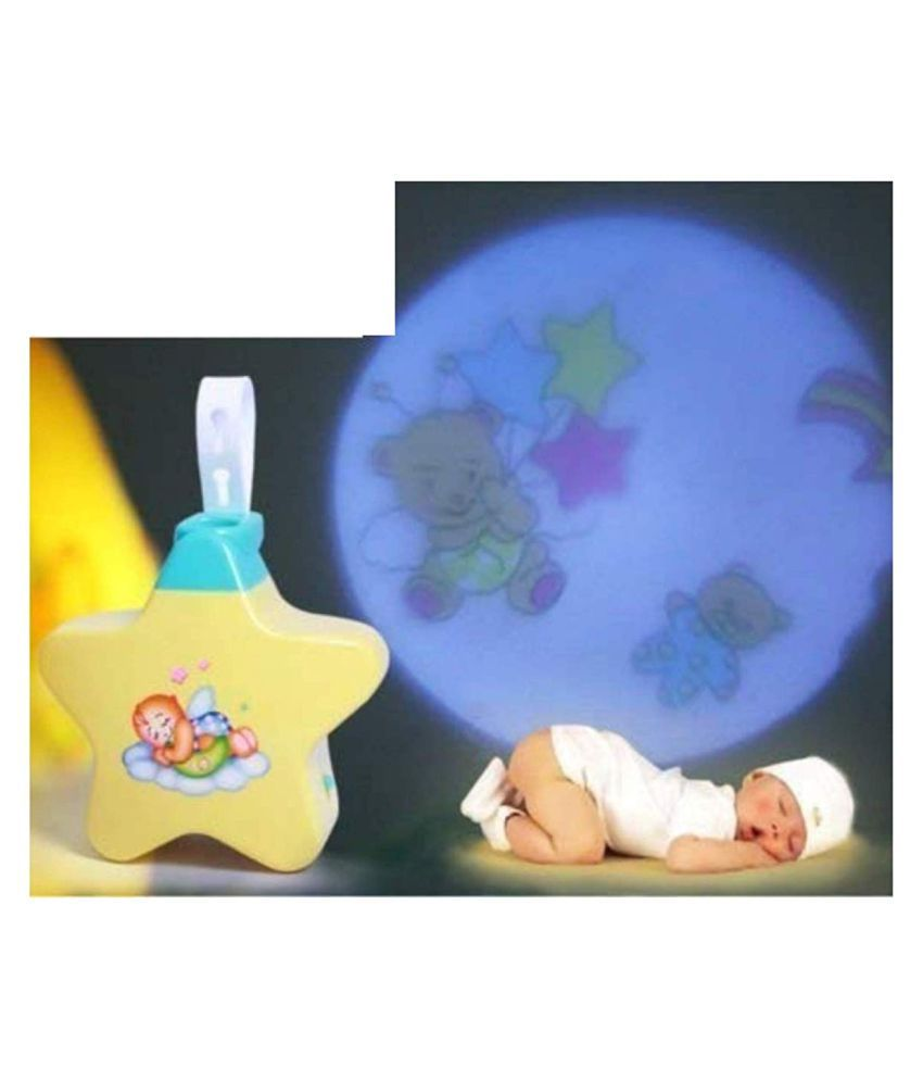 New Born Toy Little Angel Baby Sleep Star Projector With Star Light Show And Music For Kids