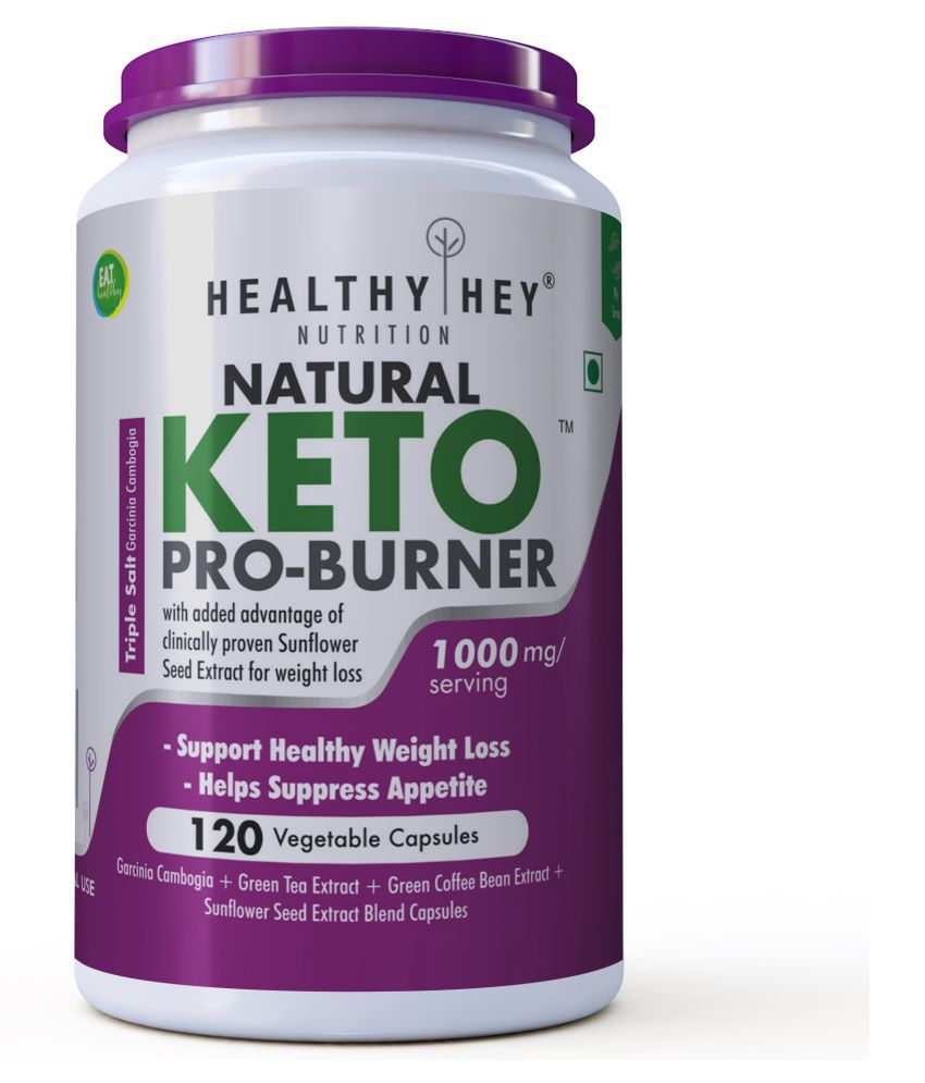 HEALTHYHEY NUTRITION Keto Pro-Burner - Support Healthy Weight Loss - 120 Veg Capsules 1000 mg