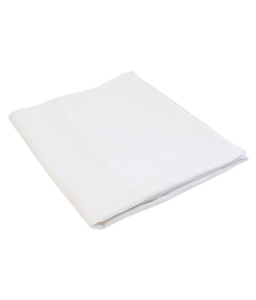 Jhon Phillipe White 100 Percent Cotton Unstitched Shirt pc