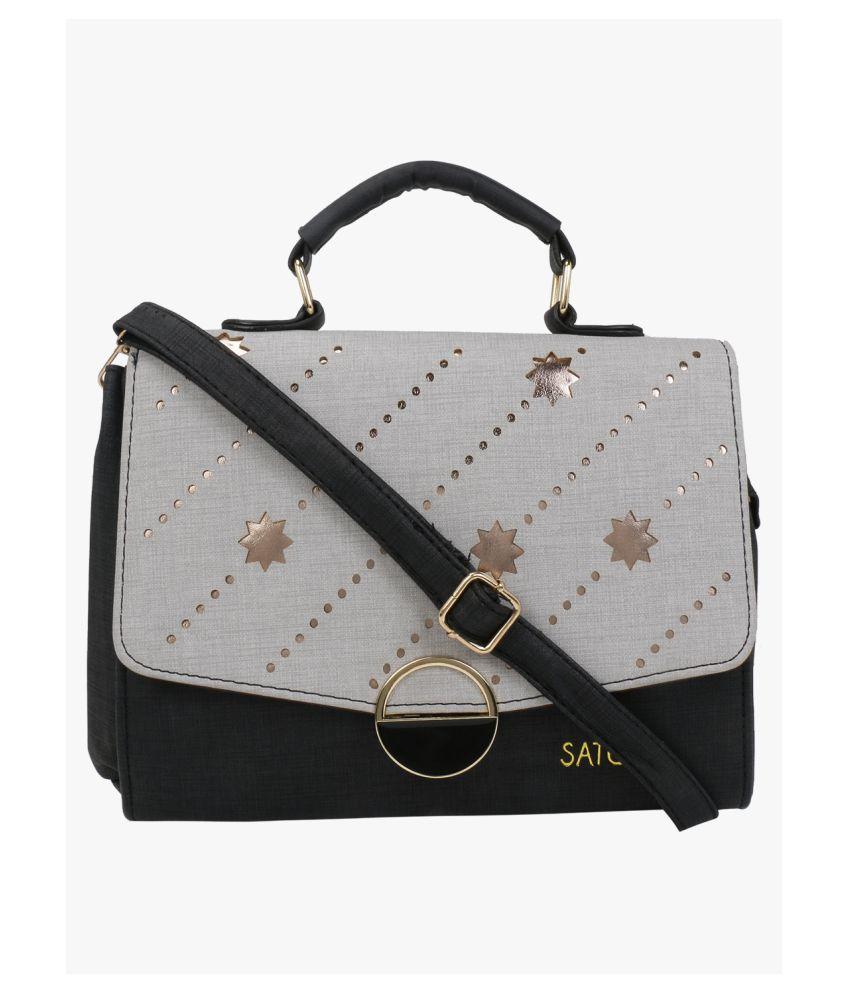Satchel Bags & Accessories Black P.U. Sling Bag