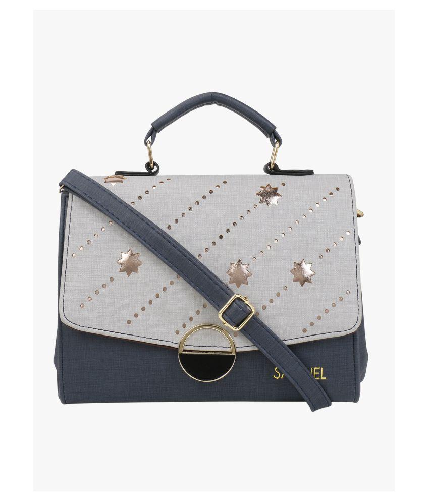 Satchel Bags & Accessories Navy P.U. Sling Bag