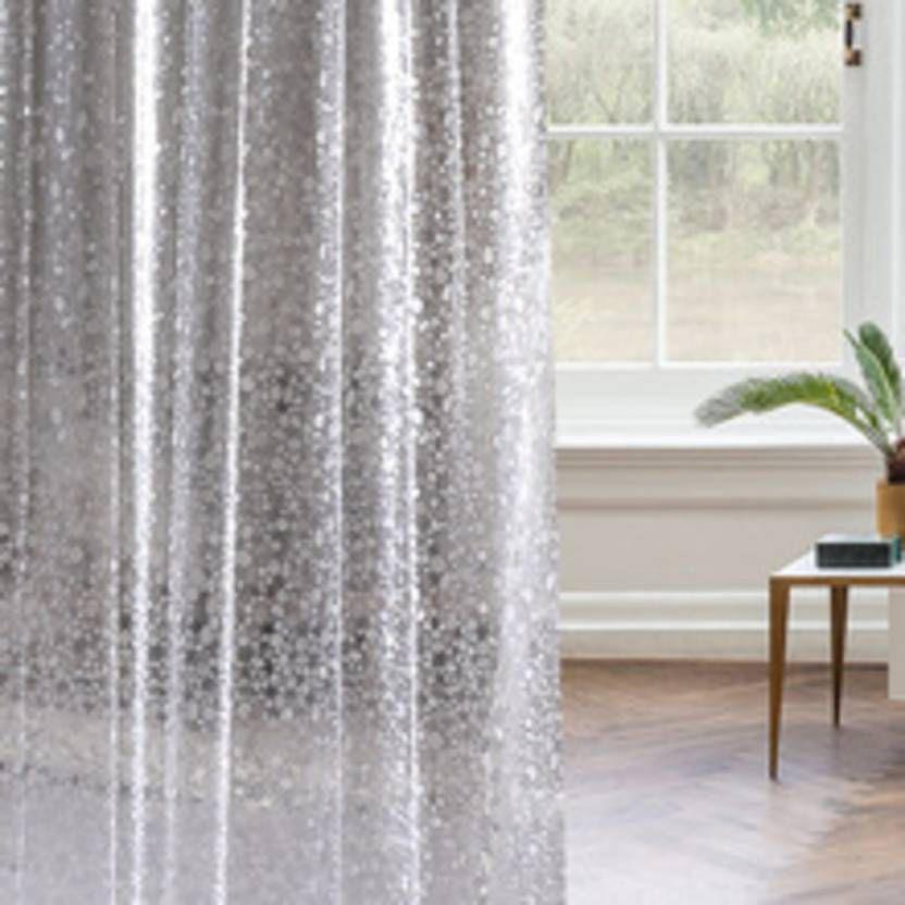 Dakshya Industries Set of 2 Door Transparent Ring Rod PVC AC Curtains White