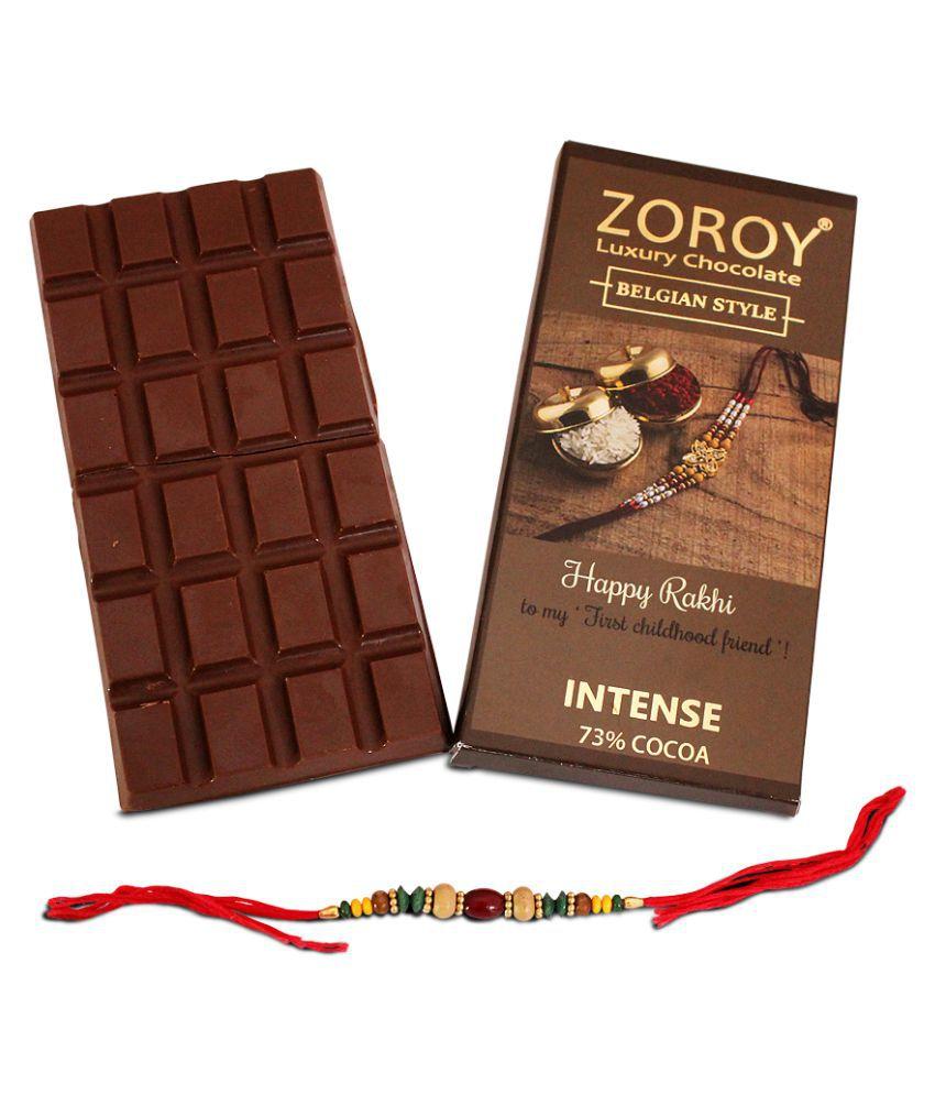 Zoroy Luxury Chocolate Chocolate Box Belgian milk chocolate for Rakhi 100 gm