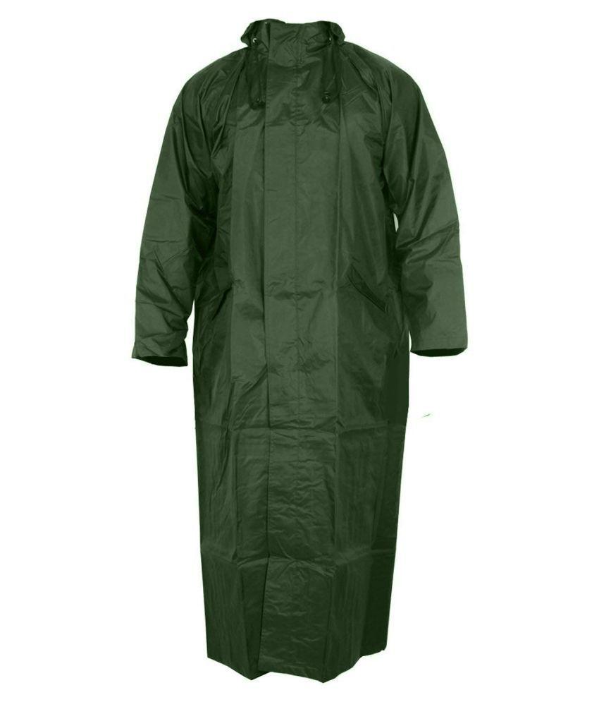 fustian trends Long Raincoat - Green