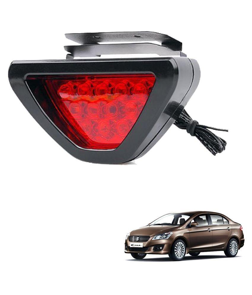 Auto Addict Car Triangle Shape 12 LED Red Color Brake Light with Flash Mode For Maruti Suzuki Ciaz