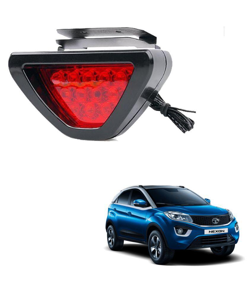Auto Addict Car Triangle Shape 12 LED Red Color Brake Light with Flash Mode For Tata Nexon