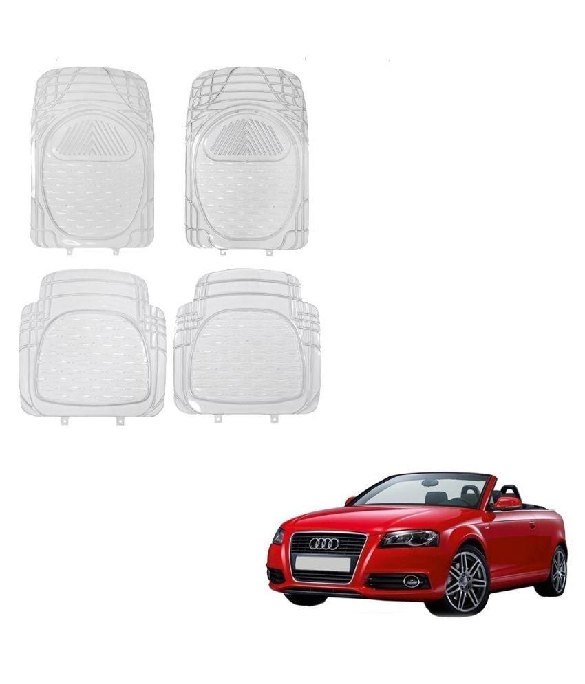 Auto Addict Car Rubber PVC Car Mat 6204 Foot Mats Clear Color Set of 4 pcs For Audi A3 Cabriolet