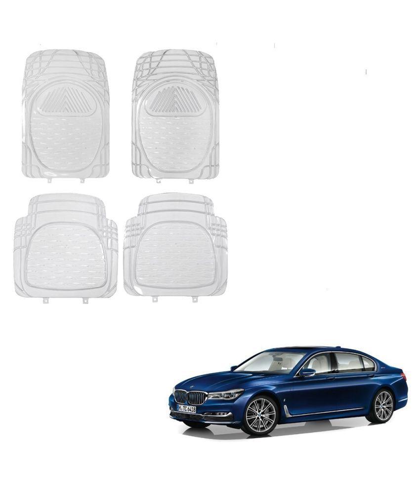 Auto Addict Car Rubber PVC Car Mat 6204 Foot Mats Clear Color Set of 4 pcs For BMW 7 Series