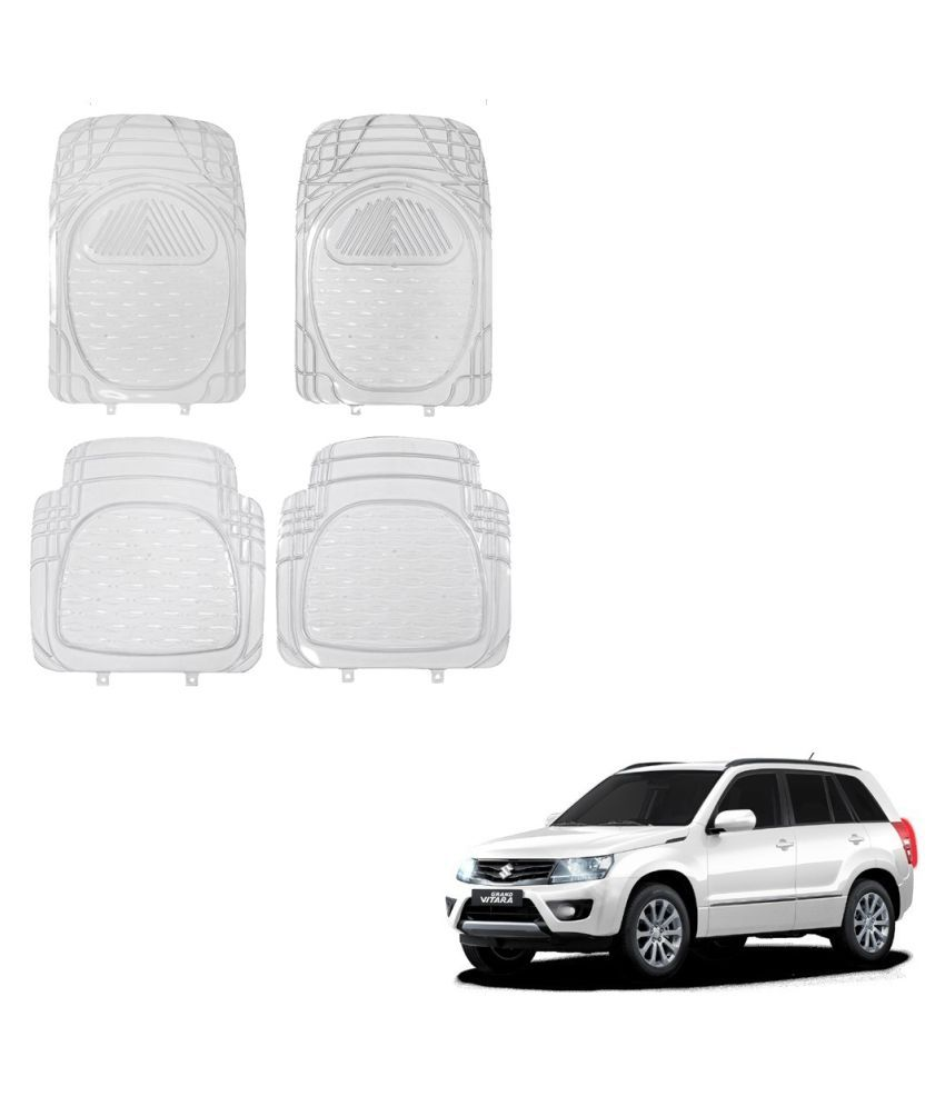Auto Addict Car Rubber PVC Car Mat 6204 Foot Mats Clear Color Set of 4 pcs For Maruti Suzuki Grand Vitara