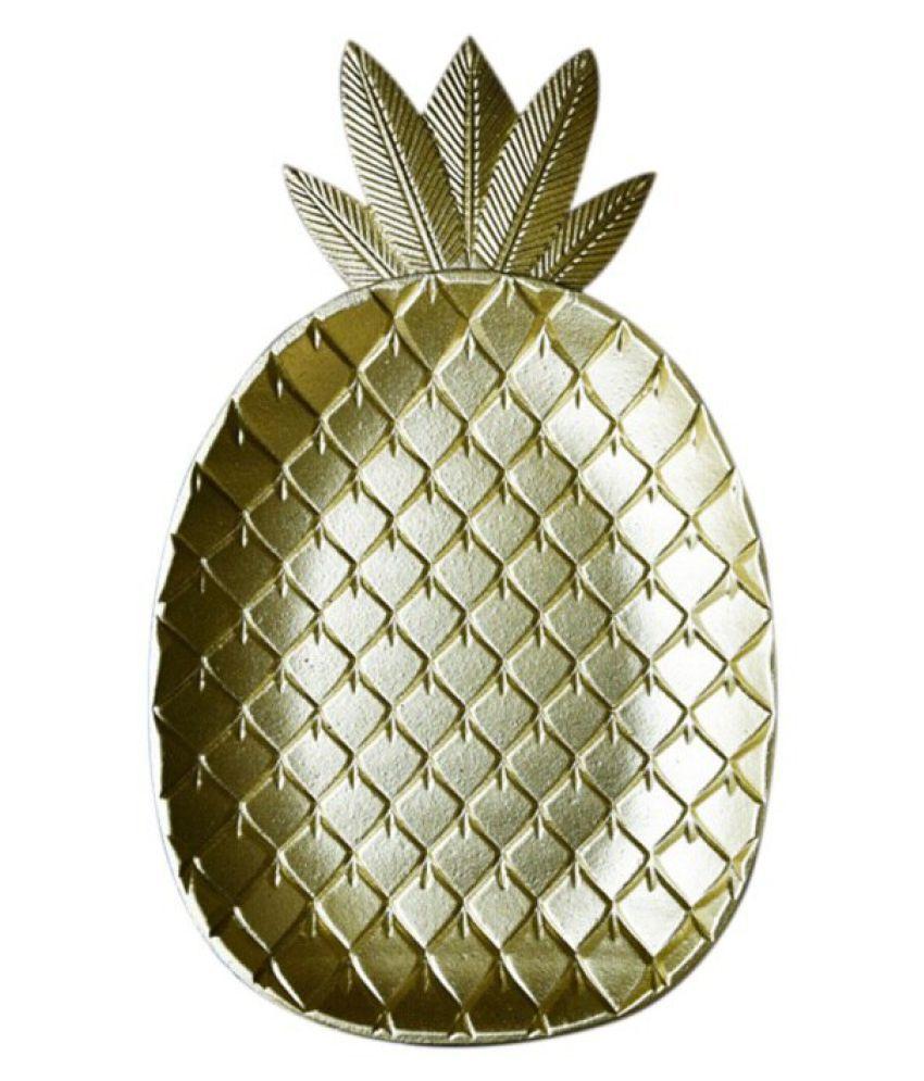 Decorative Gold Leaf Nordic Pineapple Dessert Fruit Plate Creative ...
