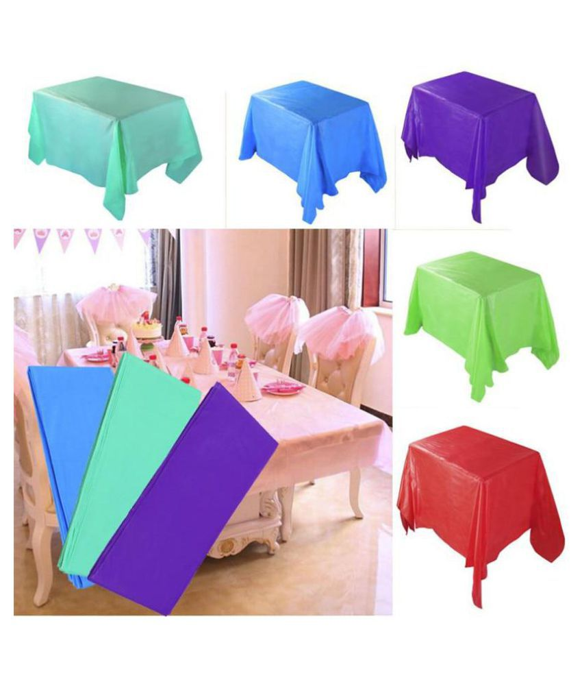 1Pc 137*183Cm Solid Color Tablecloth Wedding Birthday Party Table Cover Rectangle Desk Cloth