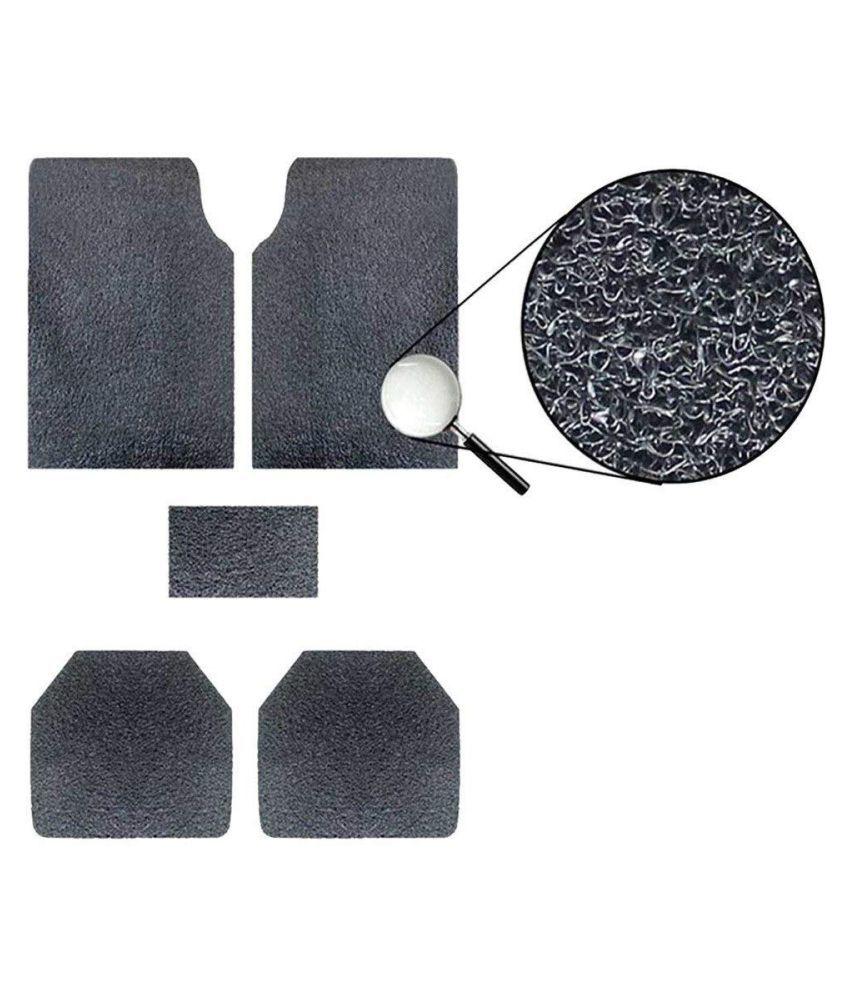 Autofetch Car Anti Slip Noodle Floor Mats (Set of 5) Black for Mahindra Quanto