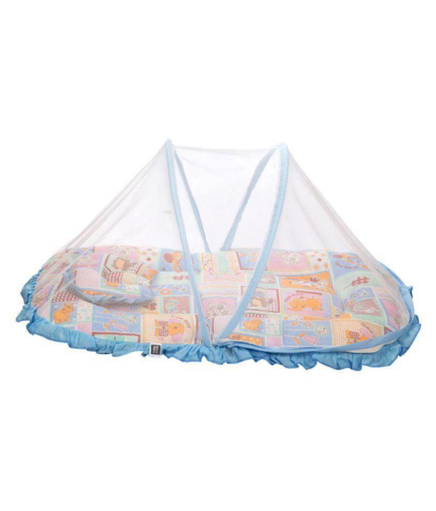 Mee Mee Blue Cotton Baby Blanket ( 50 cm × 60 cm- 1 pcs)