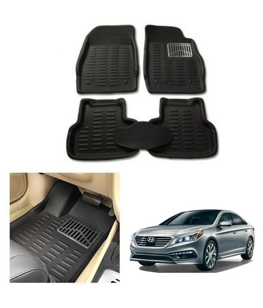Neeb Traders Car Carpet Black Car Floor/Foot Mats for Hyundai Sonata New 10-13