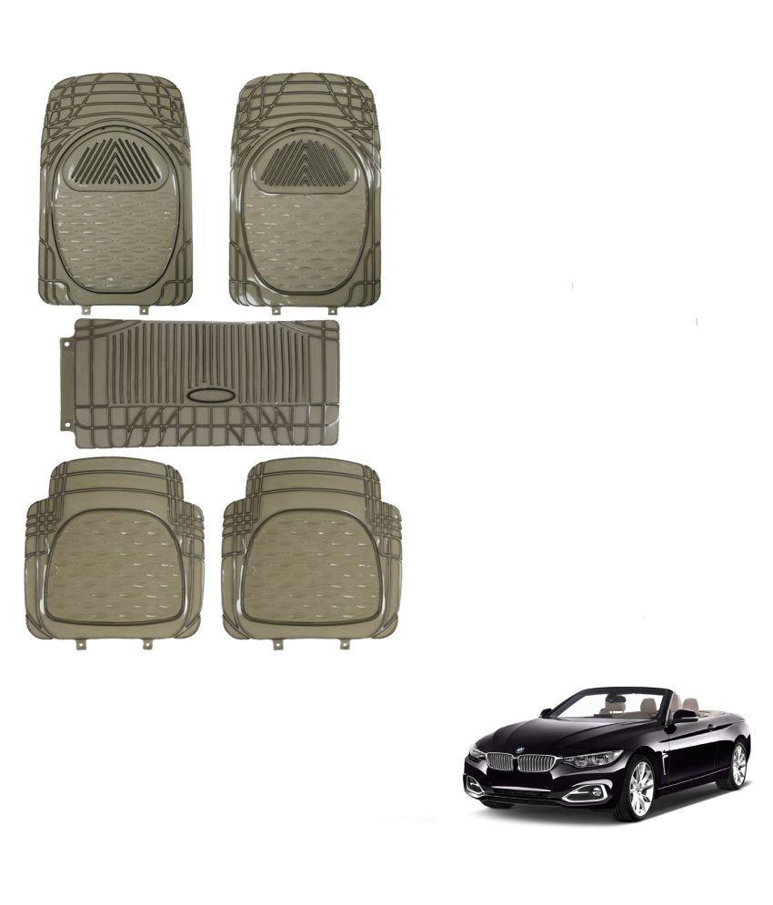 Auto Addict Car Rubber PVC Car Mat 6205 Foot Mats Smoke Color Set of 5 pcs For BMW 4 Series