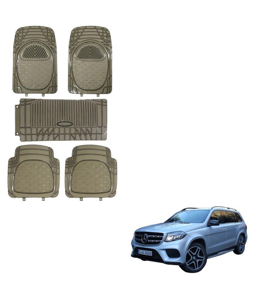 Auto Addict Car Rubber PVC Car Mat 6205 Foot Mats Smoke Color Set of 5 pcs For Mercedes Benz NA