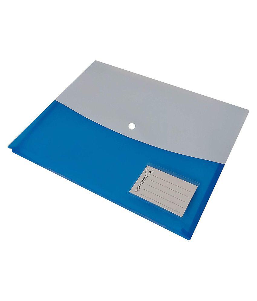 Button Bag Plastic File Folder, Pack of 12