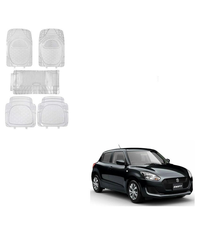 Auto Addict Car Rubber PVC Car Mat 6205 Foot Mats Clear Color Set of 5 pcs For Maruti Suzuki New Swift 2018