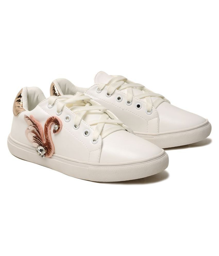 Klaur Melbourne White Casual Shoes