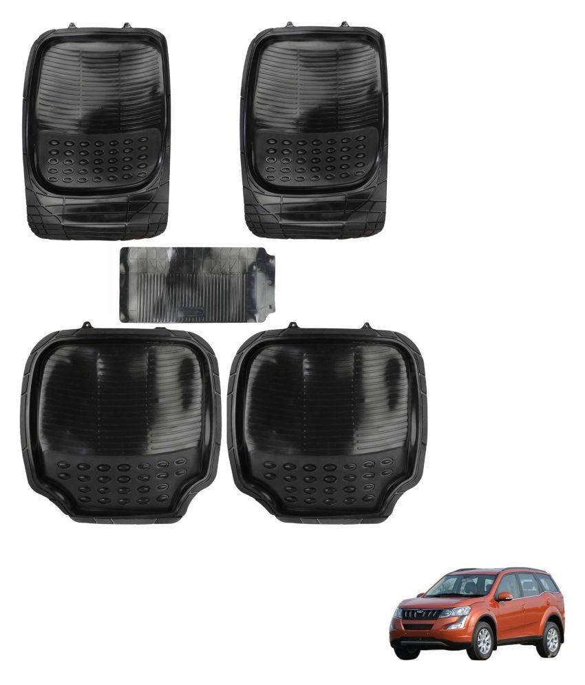 Auto Addict Car 4G Black Rubber PVC Heavy Mats Set Of 5 Pcs For Mahindra XUV 500 New
