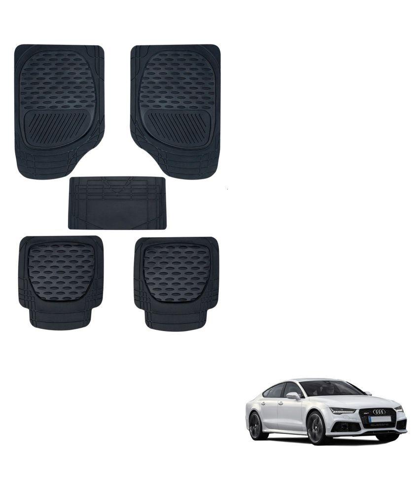 Auto Addict Car 6255 TW Rubber PVC Heavy Mats Black Color Set Of 5 Pcs For Audi A7