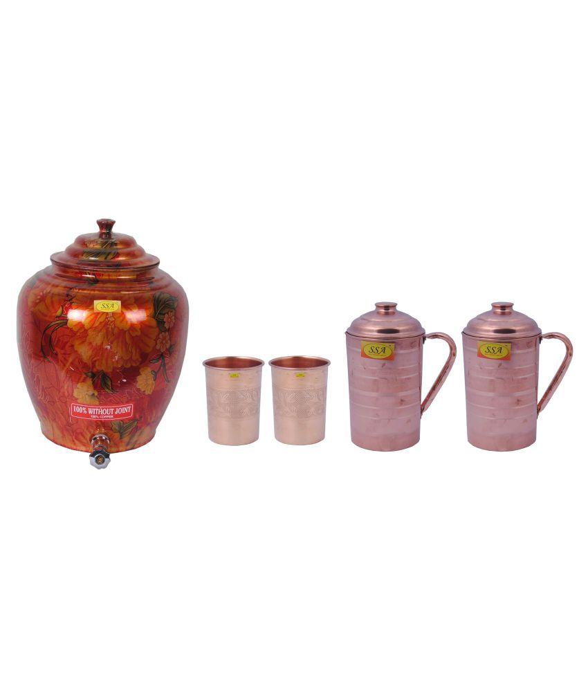 Shiv Shakti Arts Drinkware Combo 5 Pcs Jug and Glass Combo