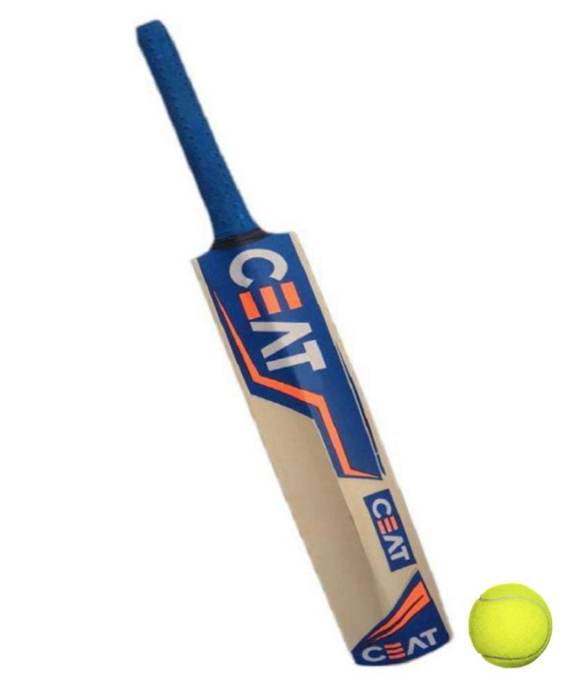 Ceat Full Size Popular Willow Cricket Bat For Hard Tennis Ball With 1 Tennis Ball