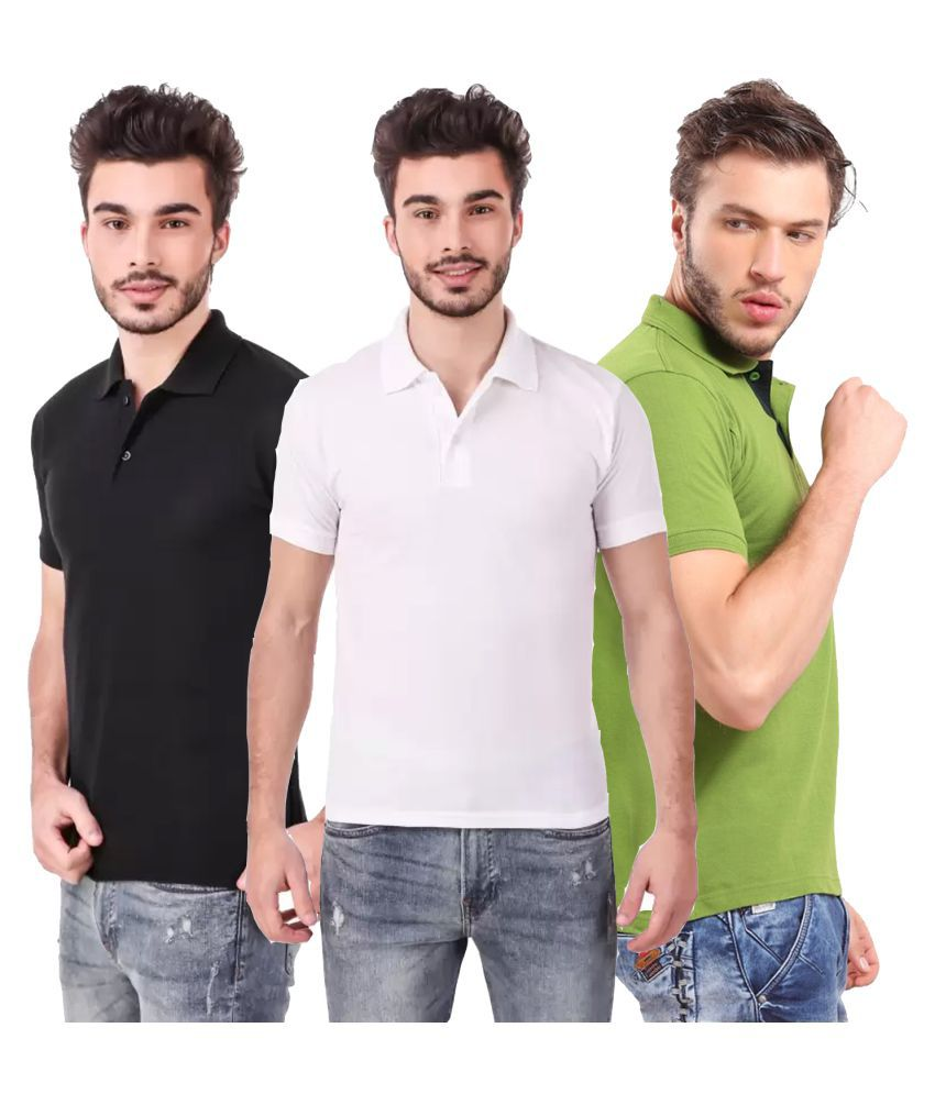 Freely Polyester Cotton Multi Solids T-Shirt