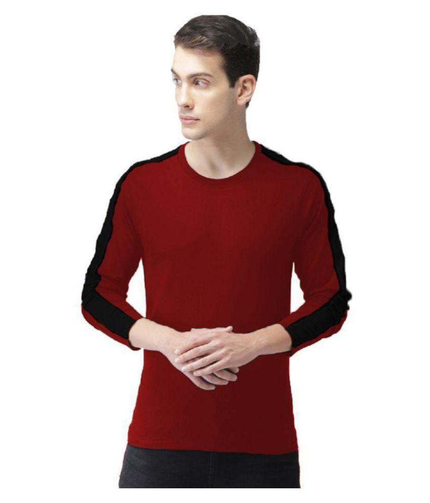 clafoutis 100 Percent Cotton Red Striper T-Shirt