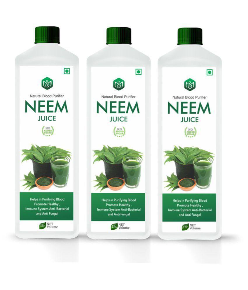 Scorlife Neem Juice Sugar Free [Pack of 3] Health Drink 1000 ml