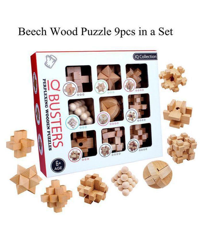 New Kids Intelligence Buckle Children's Puzzle Unlocking Toy Kong Ming Lock Set