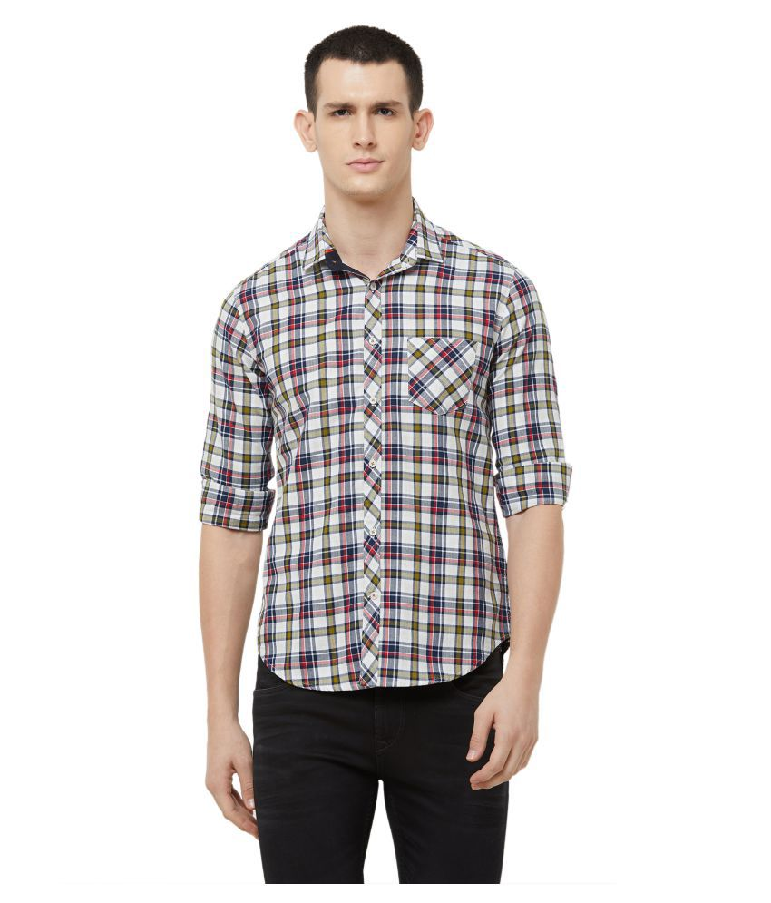 Killer 100 Percent Cotton Green Checks Shirt