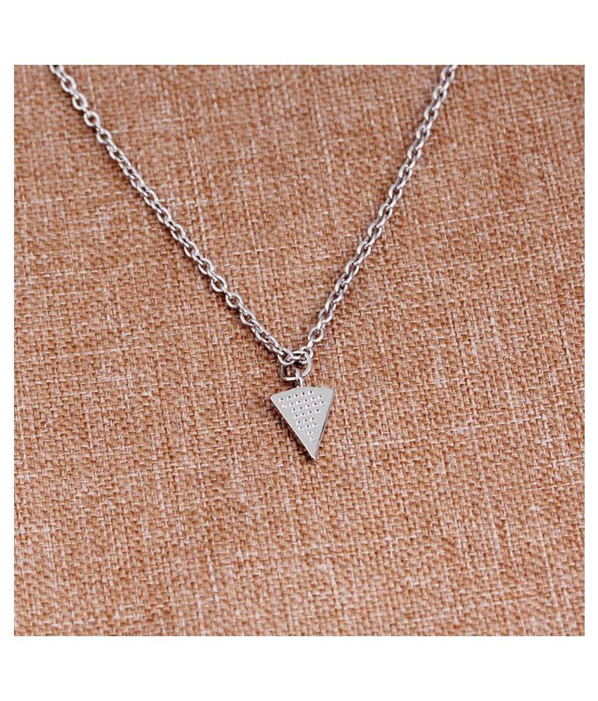 Fashion Creative Teenage Girls Geometric Pendant Chain Necklace (A2203SI) (Fashion Jewellery)
